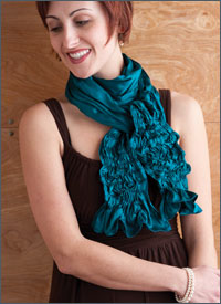Beautiful scarf sewing pattern for all levels