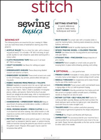 Build your sewing foundations with this sewing basics for beginners section.