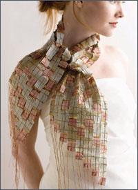 Mosaic silk scarf for beautiful necks!