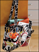 A sewing organizer pattern perfect for toting around all your sewing supplies.