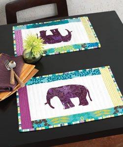 Elephant placemats pattern.
