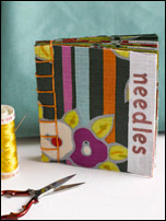 Store all your important sewing needles with this free needle book pattern.