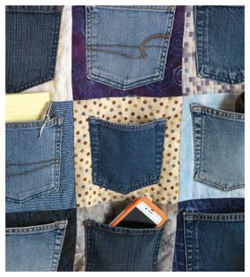 An Upcycled Sewing Pattern For Denim Pockets Sew Daily