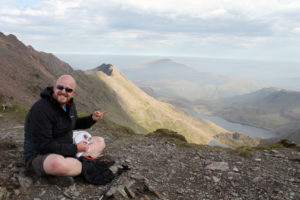 Cross Stitching on top of Mount Snowdon