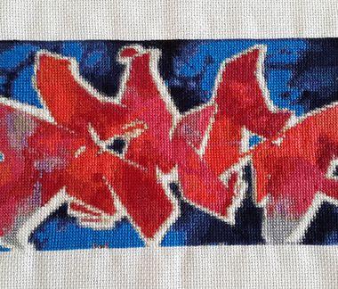 DEMS graffiti cross stitch 1200px