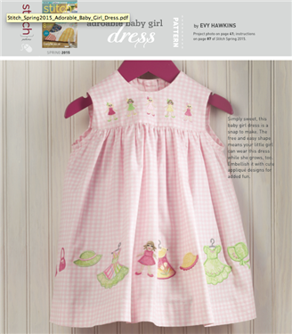 Free Sewing Pattern: Adorable Baby Girl Dress - Sew Daily