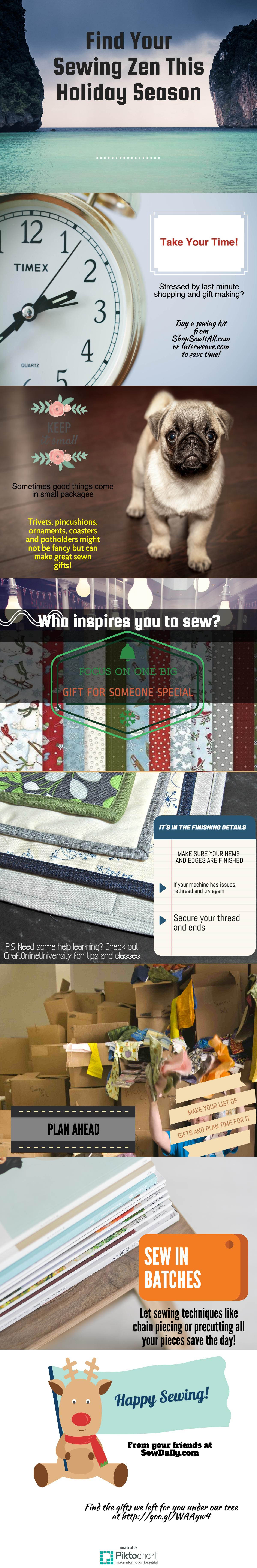 Holiday Sewing Zen from Sew Daily!