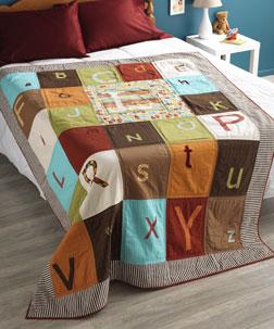 Alphabet Soup Quilt designed by Rachel Hauser.