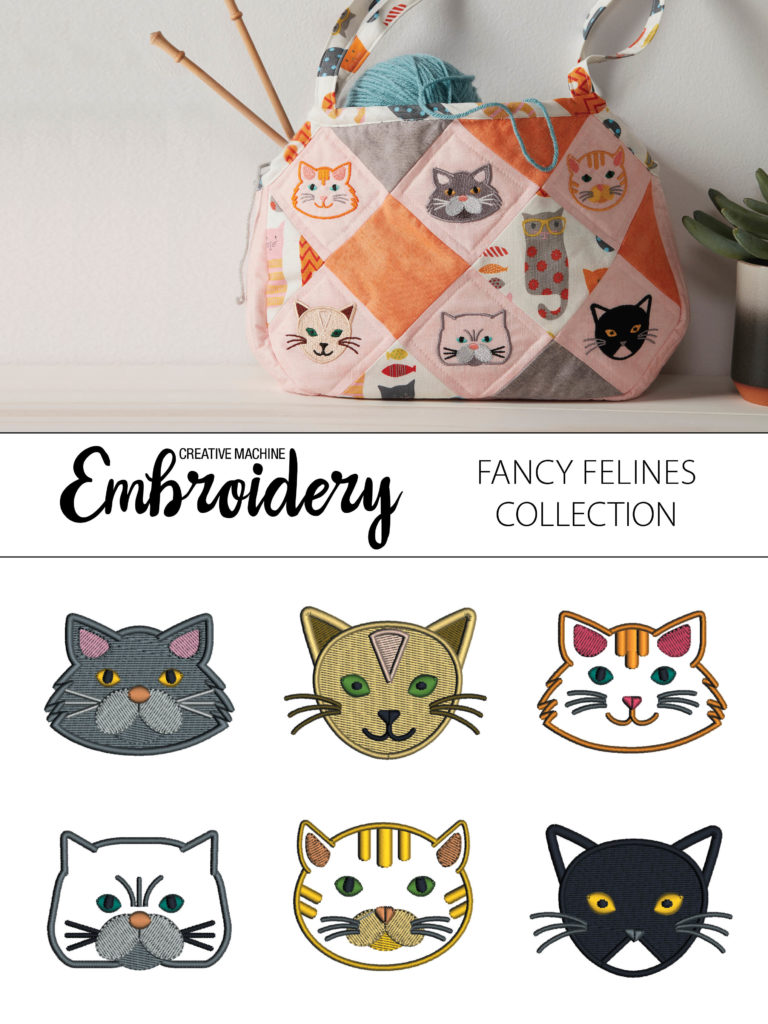 CMe Cat Embroidery Design Collection